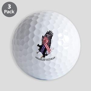 Disabled Veteran Eagle and Ribbon Golf Ball