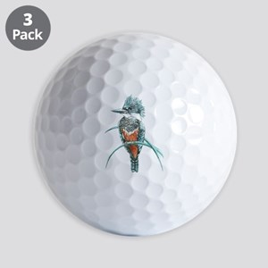 Watercolor Painting Kingfisher Bird Golf Balls