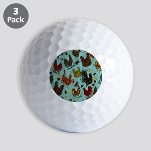 Tossed Chickens Golf Balls