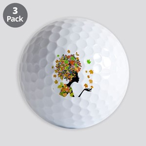 Flower Power Lady Golf Balls