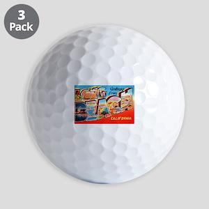 Long Beach California Greetings Golf Balls