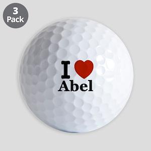 I love Abel Golf Balls