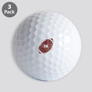 26th Anniversary Football Twenty Sixth Golf Balls
