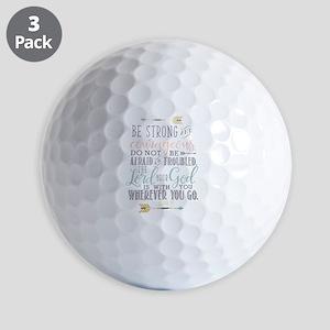 Joshua 1:9 Bible Verse Golf Balls