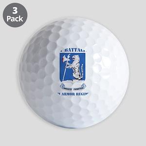 DUI - 77th armor rgt with text Golf Balls
