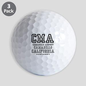 AIRPORT JETPORT  CODES - CMA - CAMARILL Golf Balls