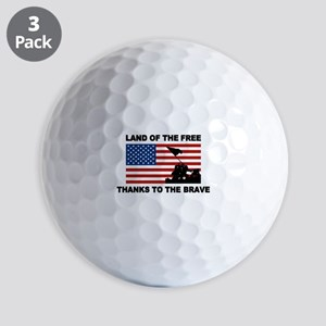 Land Of The Free Thanks To The Brave Golf Ball