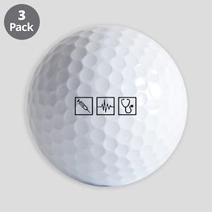 Medical equipment stethoscope syringe Golf Balls