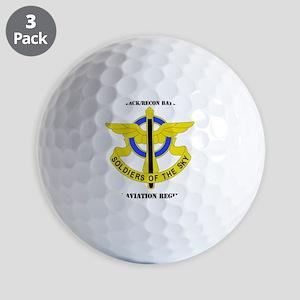DUI - 1-10th Aviation Regiment with Tex Golf Balls