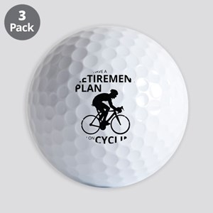 Cyclist Retirement Plan Golf Balls
