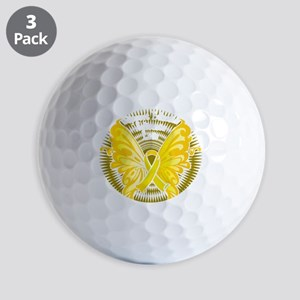 Suicide-Prevention-Butterfly-3-blk Golf Balls