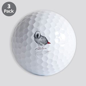 African Grey Parrot Golf Ball