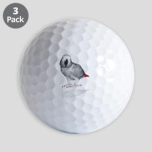 African Grey Parrot Golf Ball