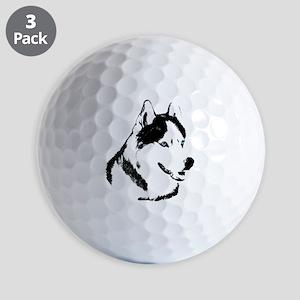 Siberian Husky Sled Dog Golf Balls