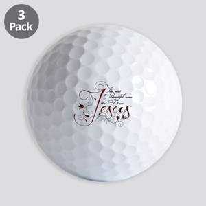 Beautiful name of Jesus Golf Ball