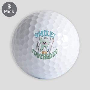 SmileItsToothsday Golf Balls