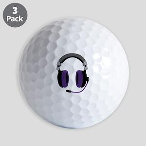Video Gamer Headset Golf Ball