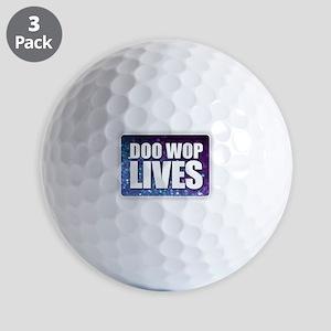 Doo Wop Lives Golf Balls