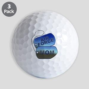 Air Force Mom Dog Tags Golf Balls