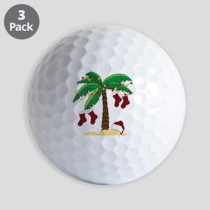 Tropical Christmas Golf Balls