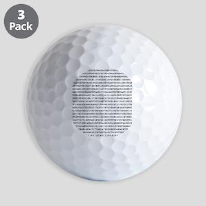 Pi to 1000 Digits Golf Balls