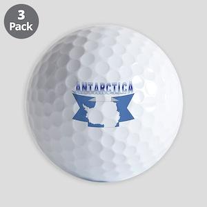 Antarctic flag ribbon Golf Balls