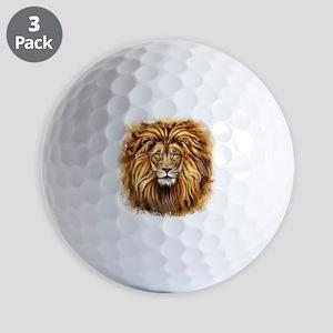 Artistic Lion Face Golf Balls