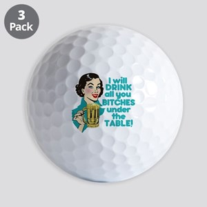 Funny Beer Drinking Humor Golf Balls