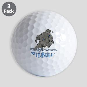 Real Girls Rescue Pitbulls Golf Ball