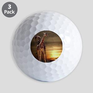 Giraffes Golf Balls