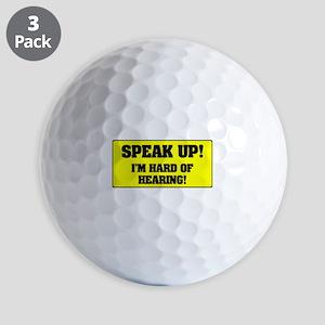 SPEAK UP - I'M HARD OF HEARING! Golf Balls
