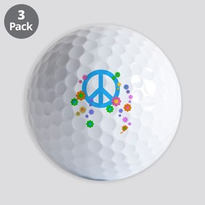 peace08-blk Golf Balls