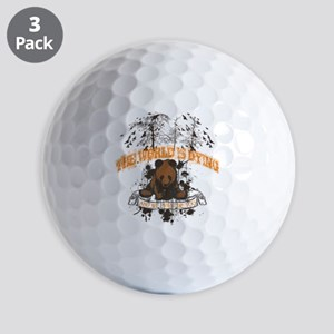 The World is Dying Golf Ball