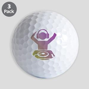 Colorful DJ Golf Ball