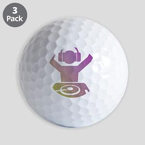 Colorful DJ Golf Balls