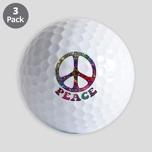 Jewelled Peace Golf Balls