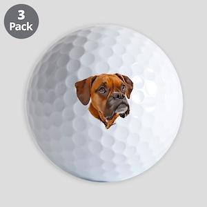 Boxer Art Portrait Golf Ball