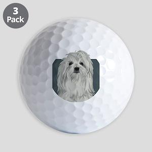 Coton de Tulear Golf Balls