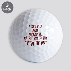 anger-management Golf Balls