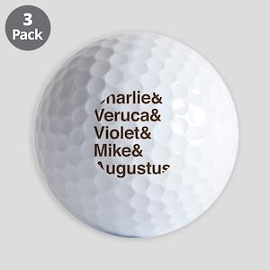 Wonka Characters Golf Balls
