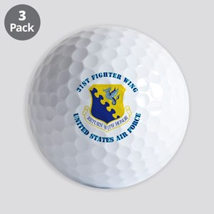 31st-Fighter-WingwithText Golf Balls