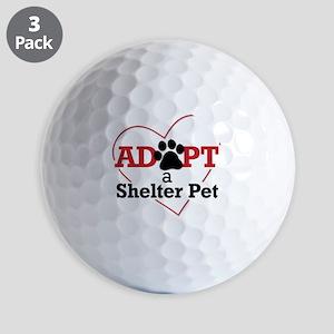 Adopt a Shelter Pet Golf Balls