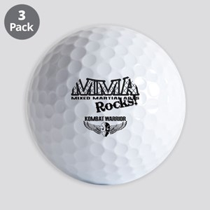 MMA ROCKS CAGE BLACK-GREY Golf Balls