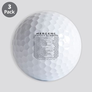 bible emergency number Golf Balls