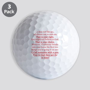 Pro Gun Quote Golf Balls