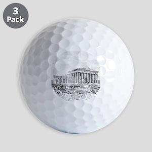 Parthenon Acropolis Athens Golf Balls