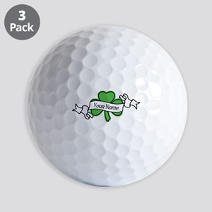 Shamrock CUSTOM TEXT Golf Balls