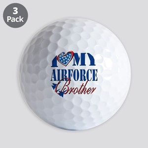 I Love My Airforce Brother Golf Balls
