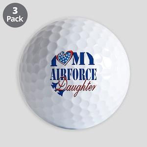 I Love My Airforce Daughter Golf Balls