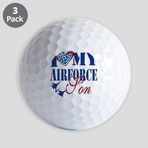 I Love My Airforce Son Golf Balls